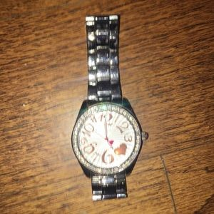 Betsey Johnson authentic silver watch